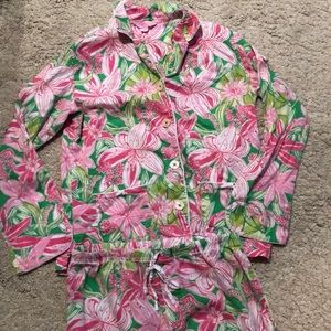 Lilly Pulitzer matching Pj set size small so cute
